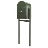 SAM postkasse ekstra large klar til jordmontering grøn