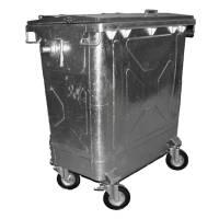 V-part affaldscontainer 770 liter UV-resistent stålgrå