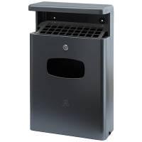 Affaldsspand med askebæger og inderspand 16 liter antracitgrå