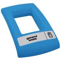 Enviro Låg med åbent indkast til alle typer affald blå