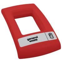 Enviro Låg med åbent indkast til alle typer affald rød