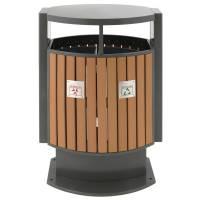 Affaldsspand til tungt affald med kildesortering 78 liter