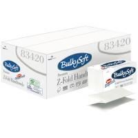 Håndklædeark Bulkysoft 2-lags Z-fold 24x23cm easypack hvid