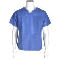 Bluse uden manchet small blå