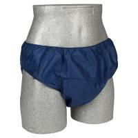 Engangsunderbukser M-L med elastik mørkeblå