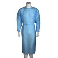 Beskyttelseskittel med manchet usteril X-large blå