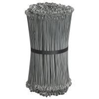 Stålsnøre til lukning af sække og poser 15cm grå