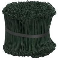 Stålsnøre til lukning af sække og poser PE-belagt 20cm grøn