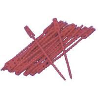 Poselukker plastik strip LDPE 12 cm rød