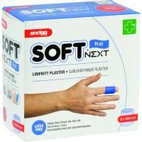 Snøgg  Skumforbinding, limfrit plaster Soft Next, 4,5m x 6cm, blå