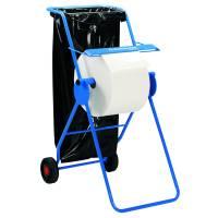 Gulvstativ, Kimberly-Clark, blå, rustfrit stål, til værkstedsruller *Denne vare tages ikke retur*