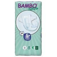 Børneble, tapeble, Bambo Nature, Junior 5+, hvid, med vådindikator