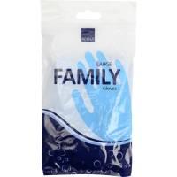 Vinylhandske Family blå med velour inderside phatalatfri vinyl large