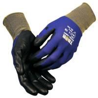 Halvdyppet PU handske THOR Extra Light blå PU Str.9