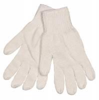 Polyesterhandske, hvid, uden dotter, 100% polyester, XL