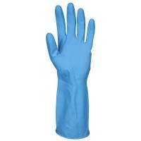 Latex handske, Abena, S, blå, latex, indvendig velourisering