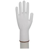 Bomuldhandsker polyester strikhandske Str 9 hvid