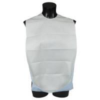 Spisestykke med vendbar lomme og tape 37x70 cm hvid og blå