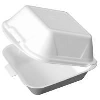 Burgerboks EPS stor 15,50x15,50cm hvid