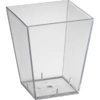 Amuse-Bouche, Duni, 6x6x7cm, 15 cl, klar, PS, firkantet *Denne vare tages ikke retur*