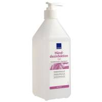 Hånddesinfektionsgel, Abena, 600 ml, flaske med pumpe