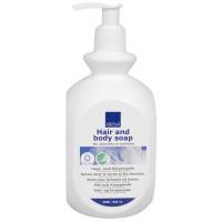 Abena hår og bodyshampoo uden farve og parfume 500ml
