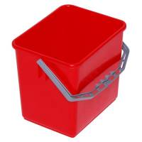 Inventarspand, Tina Trolleys, 24x19x22cm, 6 l, rød, plast, med hank