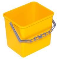 Inventarspand, Tina Trolleys, 24x19x22cm, 6 l, gul, plast, med hank