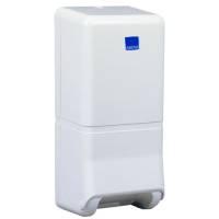 Dispenser, neutral, Maxi, 10,5x14x32cm, hvid, plast, til toiletpapir i ark
