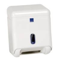 Abena Dispenser til toiletpapir i ark mini hvid