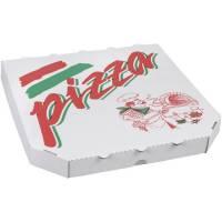 Pizzaæske 6-kantet med tryk 29x29x3 cm