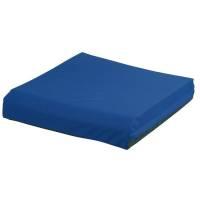 Techmaflex lændestolspude med betræk 50x50x9,5cm blå