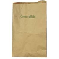 Affaldssække papir vandtæt  70g 35x39 cm 10 liter brun