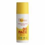 Derma Ansigtssolcreme SPF 30 med Aloe Vera og Pentavitin 50ml