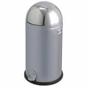 Wesco pedalspand 40 liter aluminiums grå