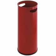 Paraplyspand metal med håndgreb rød