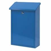 V-part postkasse klar til vægmontering blå