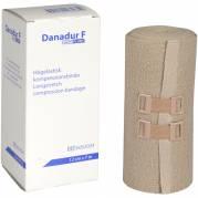 Langstræksbind, Danadur F, med clips, hudfarvet, 12 cm x 7 m
