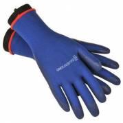 Strømpepå og -aftagerhandske, Bauerfeind, blå, medium, pakket parvis i pose