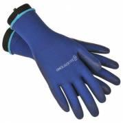 Strømpepå og -aftagerhandske, Bauerfeind, blå, large, pakket parvis i pose