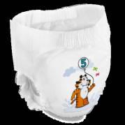 Bambo Nature Pants Børneble bukseble Junior 5 hvid med motiv