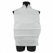 Spisestykke med vendbar lomme, 38x70 cm hvid