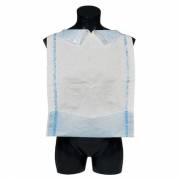 Spisestykke med lomme og limstreg 38x75 cm hvid og blå