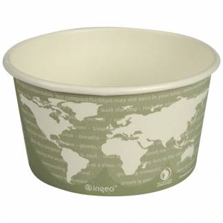 World Art bæger 6,27cm Ø11,45cm 355ml PLA-Pap grøn