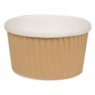 Ripple wrap uni-cup pap med PE-belægning 250ml brun