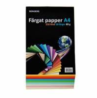 Office kulørt kopipapir A4 80g i assorterede farver