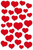 Stickers - Magic hjerter røde