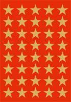 Stickers - Decor stjerner guld 13mm