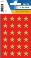 Stickers - Decor stjerner guld 15mm