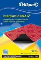 Carbonpapir interplastic 1022G A4 sort, 100 ark